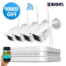 ANNKE Wireless 8CH NVR 1080P Video Outdoor WIFI CCTV Securit