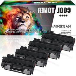4 Pack Toner Compatible for HP 05A CE505A LaserJet P2055dn P