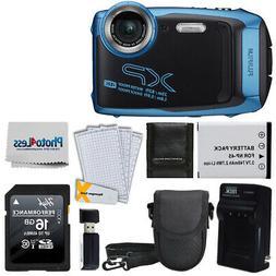 FUJIFILM XP140 Digital Camera Sky Blue   16GB SD Card   Batt