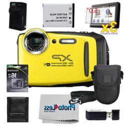 FUJIFILM XP140 Digital Camera Yellow   16GB SD Card   Batter