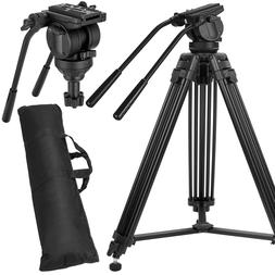 ZOMEI Pro Heavy Duty Tripod stand with Fluid Head For Video